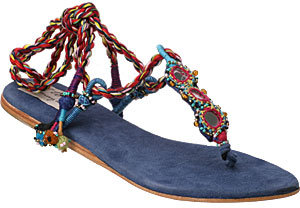 Torn By Ronny Kobo Gypsy Sandal Cobalt Blue
