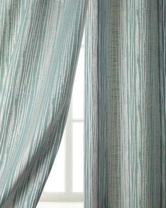 """Austin Horn Classics Two 108""""L Abstract Stripe Curtains"""