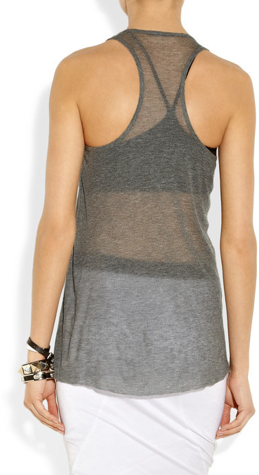 Helmut Lang Voltage fine-knit ribbed micro modal tank