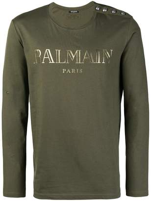 Balmain long sleeve T-shirt
