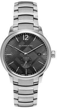 Burberry Round Stainless Steel Watch