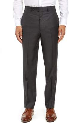 John W. Nordstrom R) Torino Traditional Fit Flat Front Solid Wool Trousers