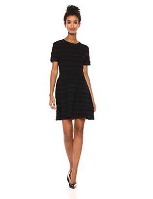 The Kooples Women's Women's Short Sleeve Power Stretch Knit Dress with Scalloping