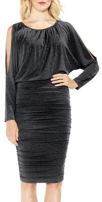 Vince Camuto Cold Shoulder Ruched Dress