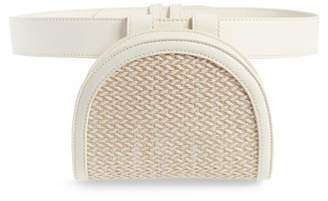 Leith Straw & Faux Leather Belt Bag