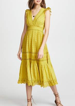 Ulla Johnson Marjorie Dress In Chartreuse