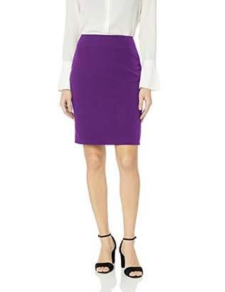 Kasper Women's Petite Stretch Crepe Slim Skirt,12P