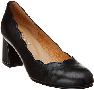 French Sole Tanzanite Leather Pump With $15 Credit