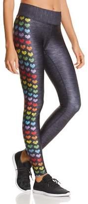Terez Love Is Love Rainbow Heart Leggings