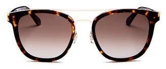 Kate Spade Women's Jalicia Brow Bar Round Sunglasses, 54mm