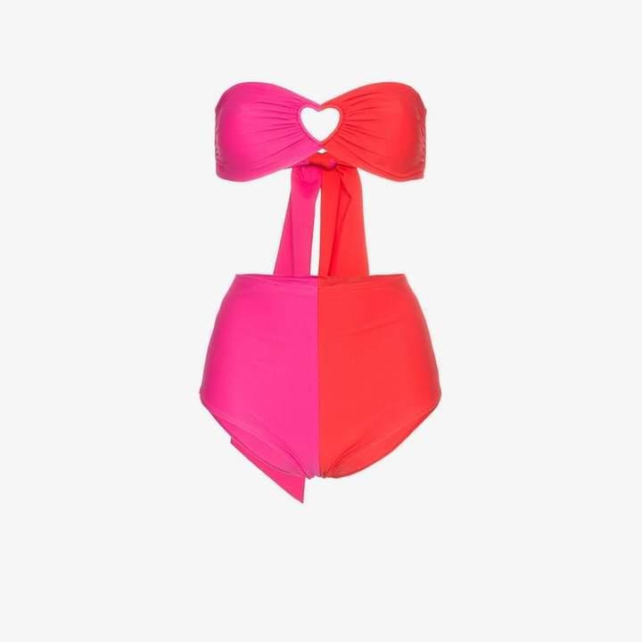 florentine heart cutout bikini