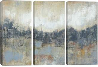 iCanvas Cool Grey Horizon I Canvas Print Triptych
