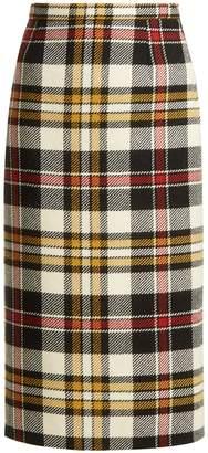 Miu Miu Tartan wool pencil skirt