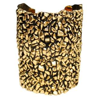 Saint Laurent Gold Metal Bracelet