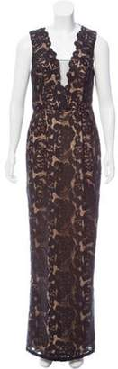 Aidan Mattox Lace Overlay Dress w/ Tags Black Lace Overlay Dress w/ Tags