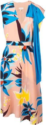 DELPOZO floral print dress