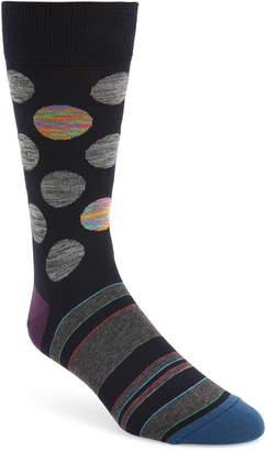 Bugatchi Mercerized Cotton Blend Socks