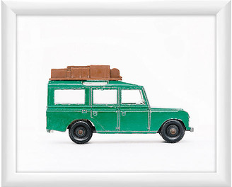 One Kings Lane Leslee Mitchell - Green Land Rover Art
