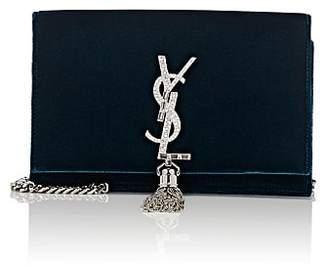 Saint Laurent Women's Monogram Kate Velvet Chain Wallet