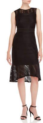 Nanette Lepore Nanette Stretch Lace Midi Dress