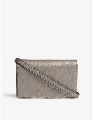 Rick Owens Small leather baguette clutch bag