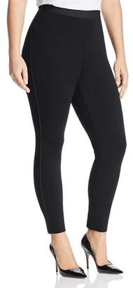 Eileen Fisher Plus Piped-Trim Leggings