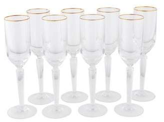 Waterford Set of 8 Metropolitan Gold Champagne Flutes