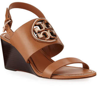 Tory Burch Metal Miller Slingback Wedge Sandals