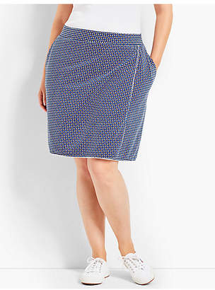 Talbots Everyday Faux-Wrap Skort-Leaf-Dot