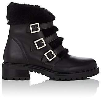 Barneys New York Women's Leather & Shearling Ankle Boots