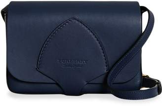 Burberry Equestrian Shield Leather Wallet with Detachable Strap