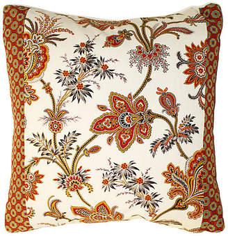 One Kings Lane Vintage French Jacobean Floral Pillow