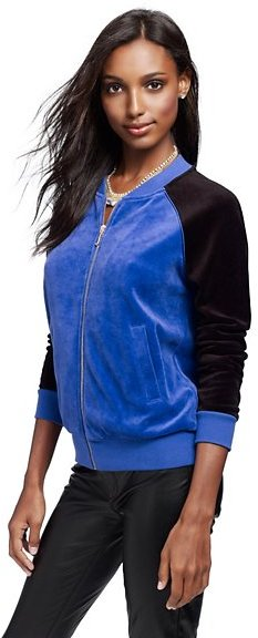 Juicy Couture Colorblocked Relaxed Bomber Jacket