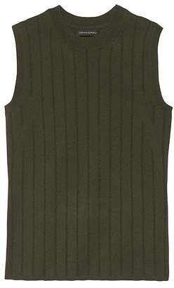 Banana Republic Petite Stripe Cotton-Blend Sweater Shell