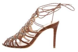 Alexandre Birman Snake Cage Sandals