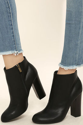 Molly Black High Heel Ankle Booties $37 thestylecure.com