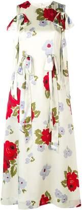 Simone Rocha floral-printed midi dress