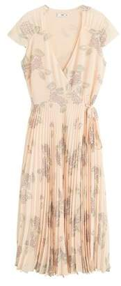 MANGO Pleated floral dress