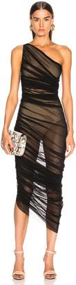 Norma Kamali Diana Gown in Black Mesh | FWRD