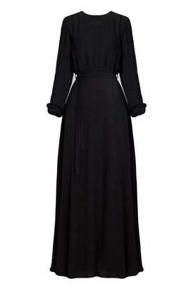 UNDRESS - Moira Black Maxi Evening Dress