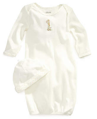Little Me Baby Boys & Girls Giraffe Gown and Beanie Set