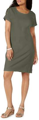 Karen Scott Petite Cotton Button-Shoulder T-Shirt Dress