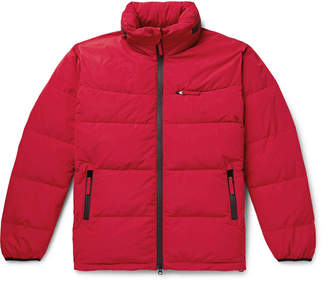 Aspesi Quilted Nylon Hooded Down Jacket - Men - Red