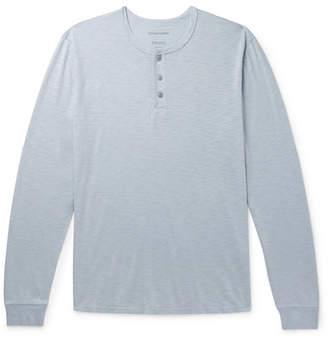 Outerknown Slub Organic Pima Cotton-Jersey Henley T-Shirt