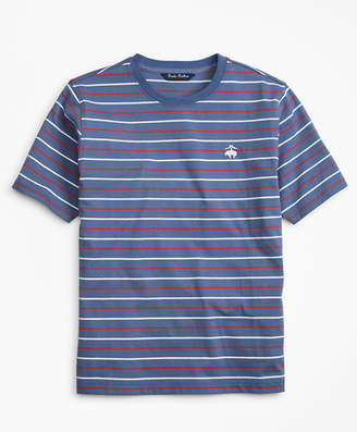 Brooks Brothers Boys Cotton Short-Sleeve Multi-Stripe T-Shirt
