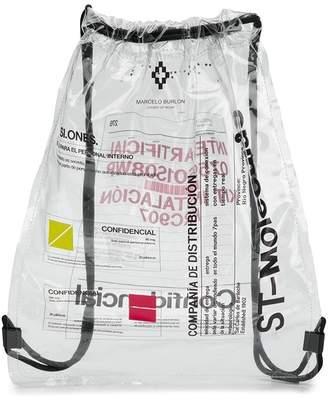 Marcelo Burlon County of Milan slogan print backpack