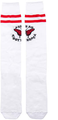 Off-White Butterfly Long Socks