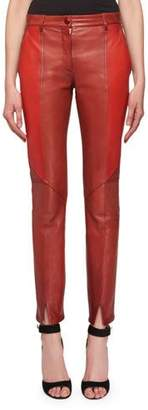 Givenchy Bonded Sheep Skin Skinny Leather Trousers