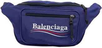 Balenciaga Nylon Fanny Pack with Political Campaign Logo