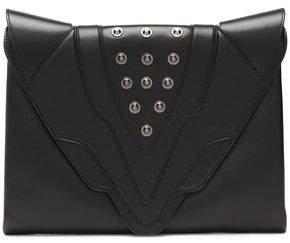 Elena Ghisellini Studded Leather Clutch